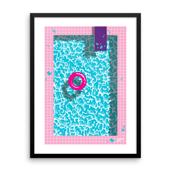 """Cool In The Pool"" Art Print by Jiro Bevis. Limited Edition"