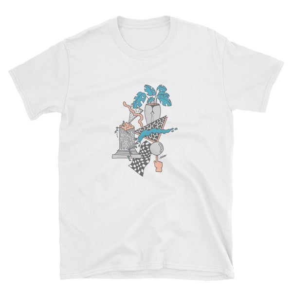 """Tropical Ruins"" unisex T-shirt by Andrew Walker"