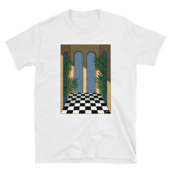 """Courtyard Shadows"" George Greaves T-Shirt"