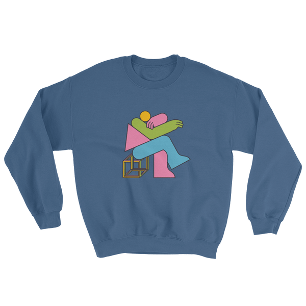 "Thomas Hedger ""Think!"" Sweatshirt Indigo Blue"