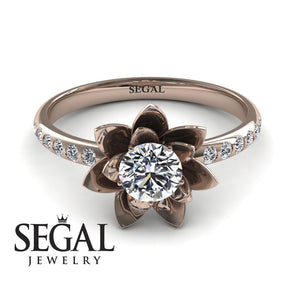 engagement rings with flowers