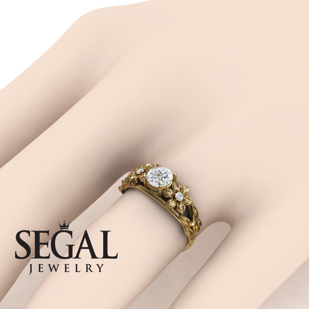Alternative Leaf Engagement Ring - Ella no. 1