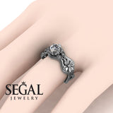 3 Stones Flower Cocktail Ring Diamond Ring- Kaylee no. 3