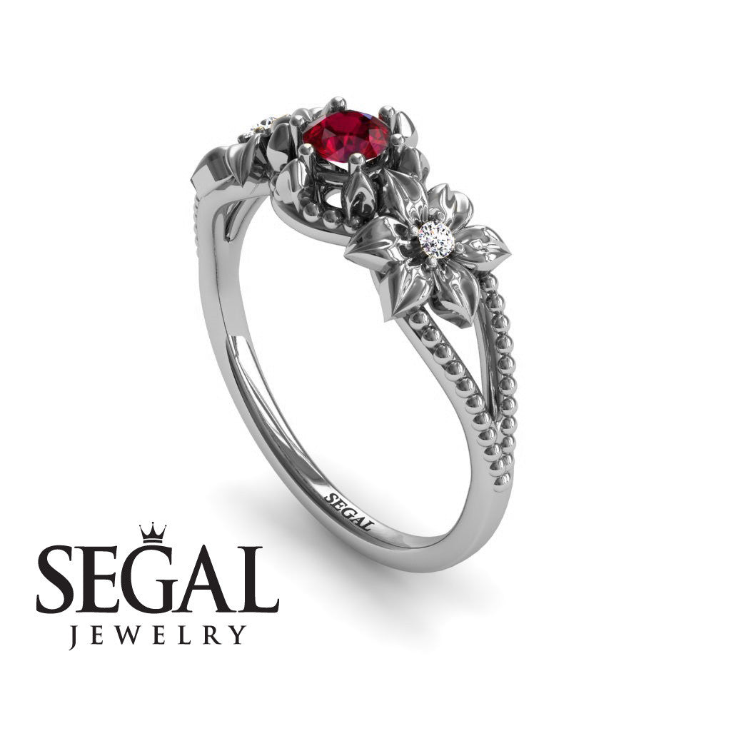 The Flower cocktail ring Ruby Ring- Kennedy no. 6