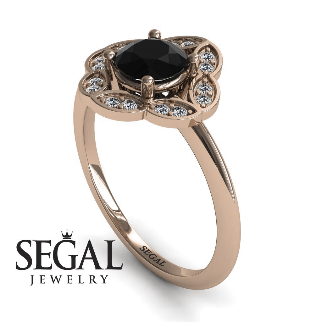A Princess Ring Black Diamond Ring- Lucy no. 5