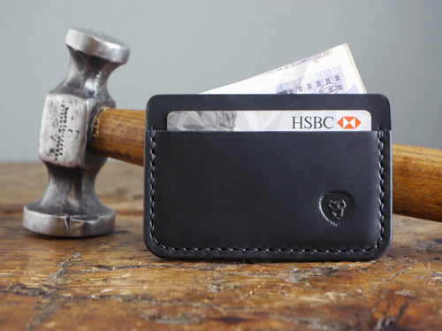 Leather Card Holder - Classic Black