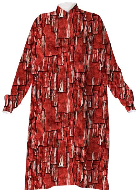 Got Meat Overlapping bacon pieces Shirtdress