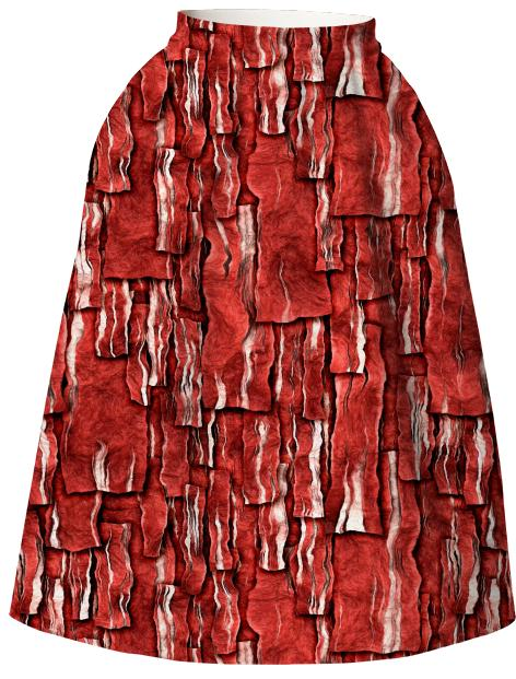 Got Meat Overlapping bacon pieces Neoprene Full Skirt