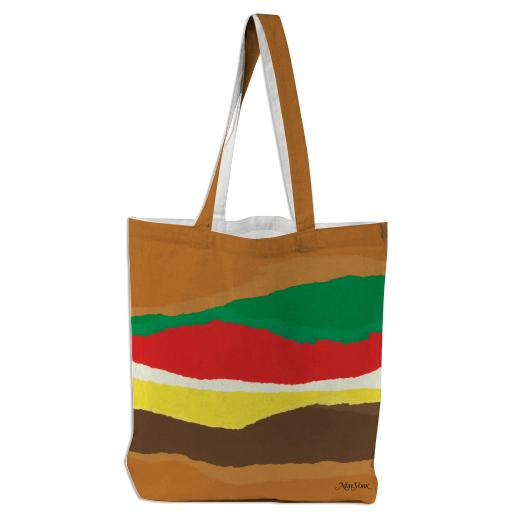 Abstract Burger Tote