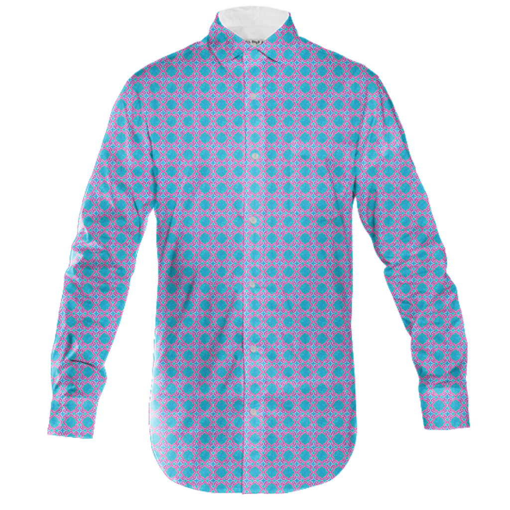 The Moors of Palm Springs Mens Button Down by Frank-Joseph