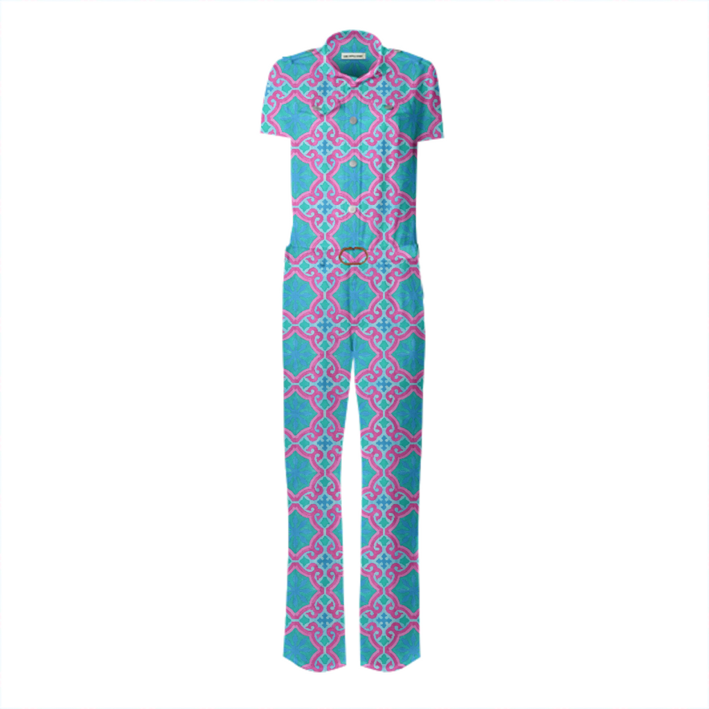 The Moors of Palm Springs Belted Jumpsuit by Frank-Joseph