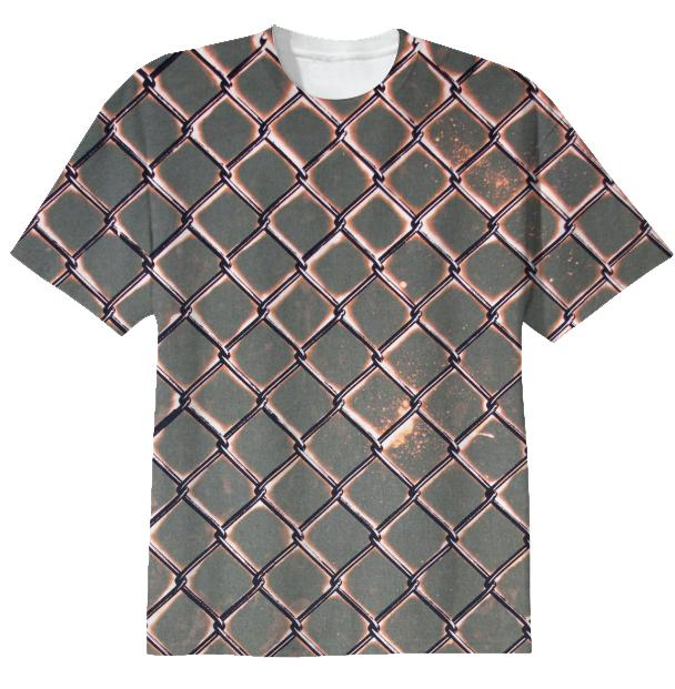 Chain Link Bleach T Shirt by Muffy Brandt