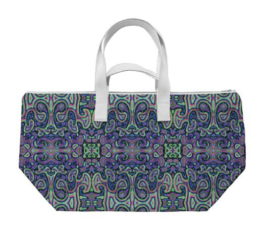 Purple and Green Swirls Weekender
