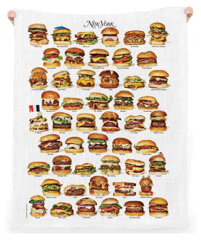 50 New York Burgers Beach Towel