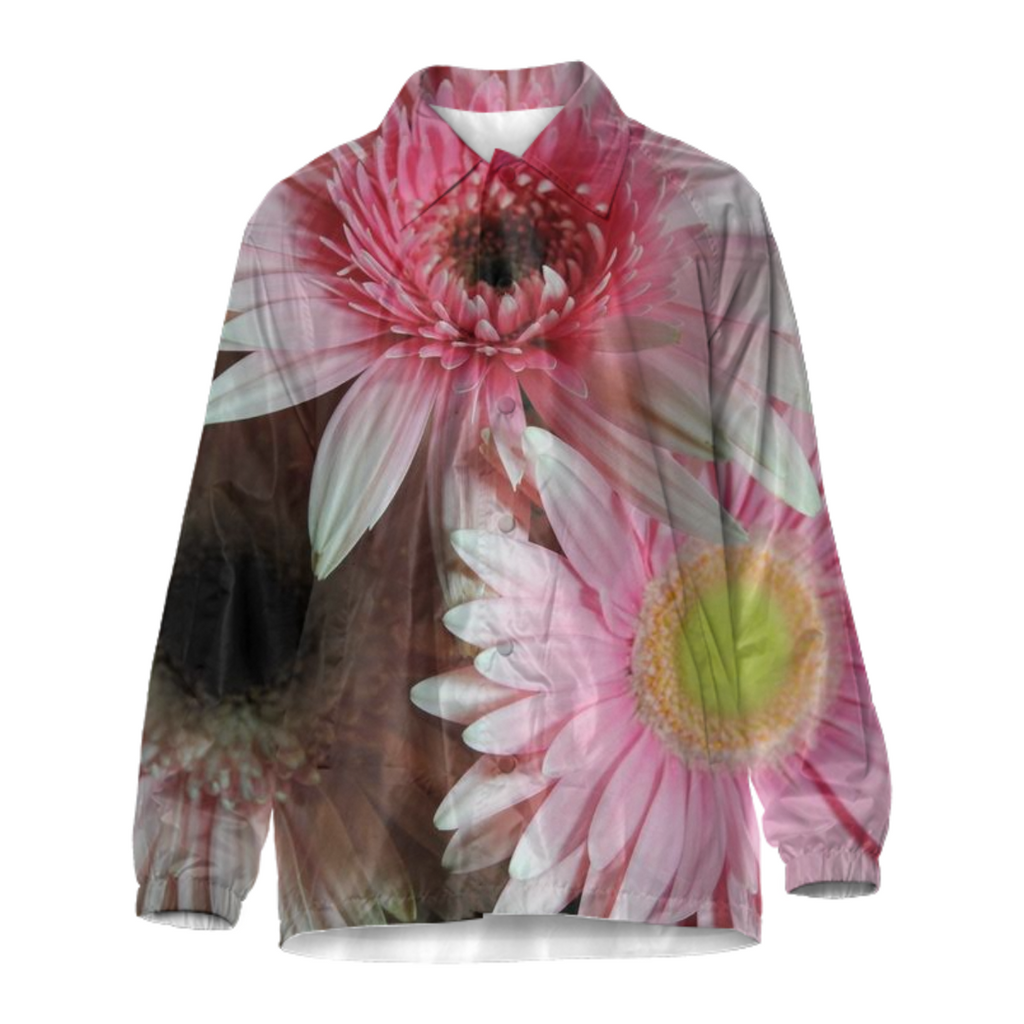 Pink Daisies Coach Jacket