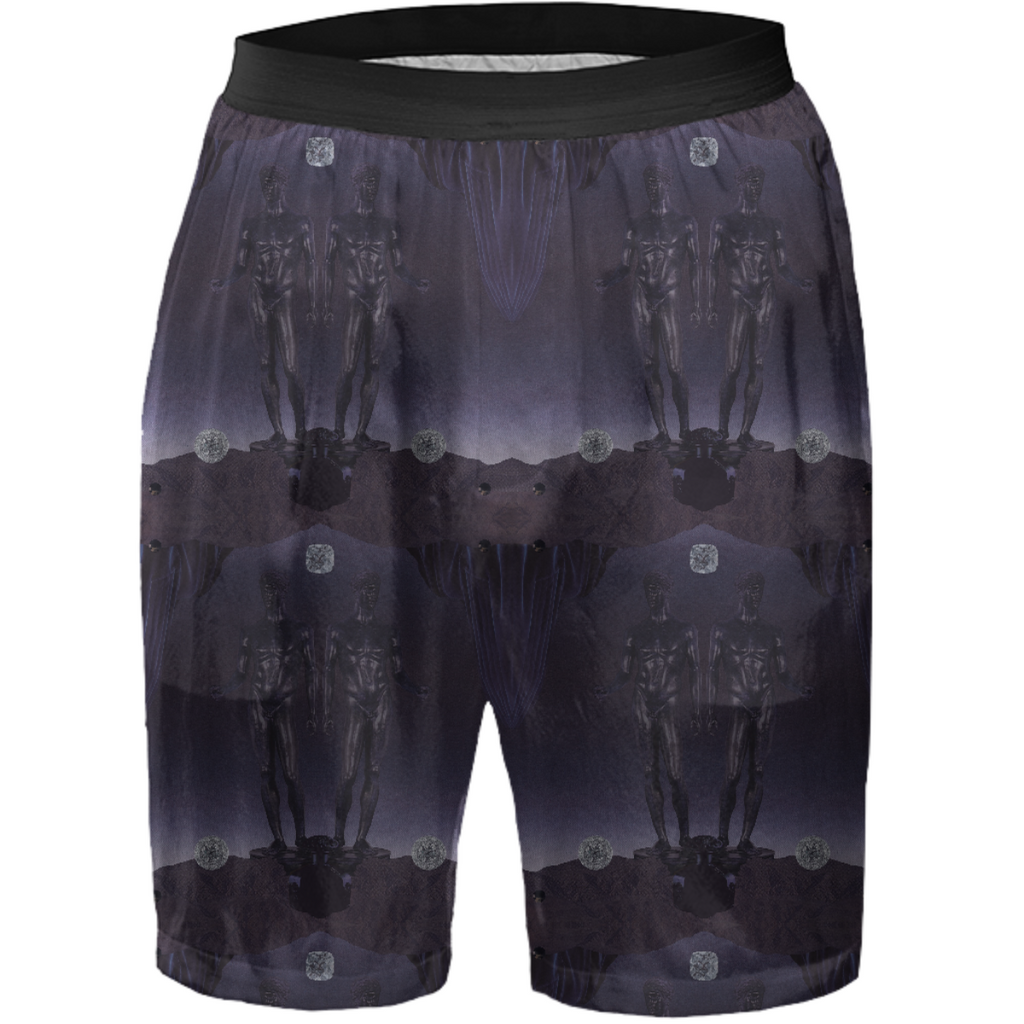 Dark Gemini Silk Shorts