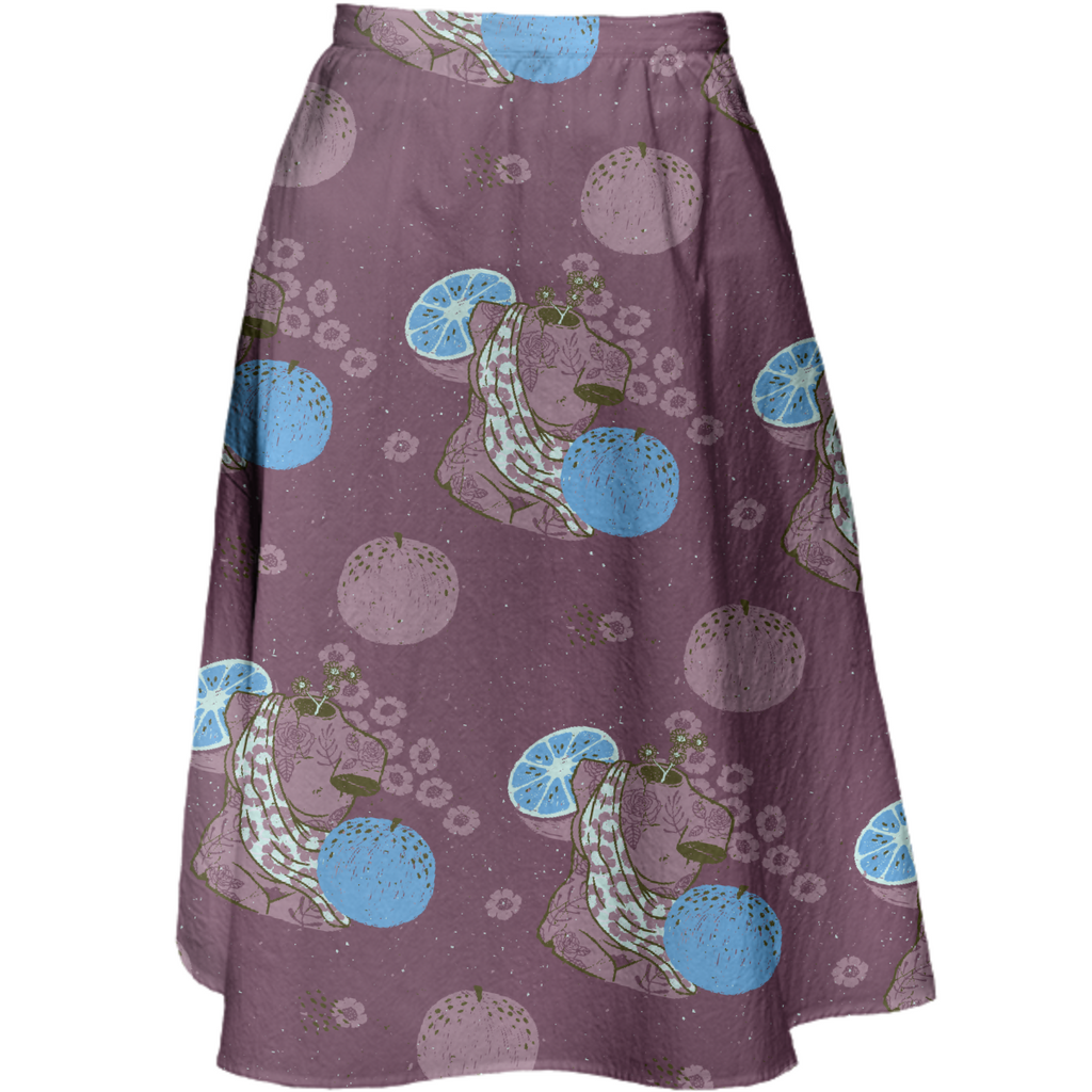 Moody Cotton Skirt - Blue