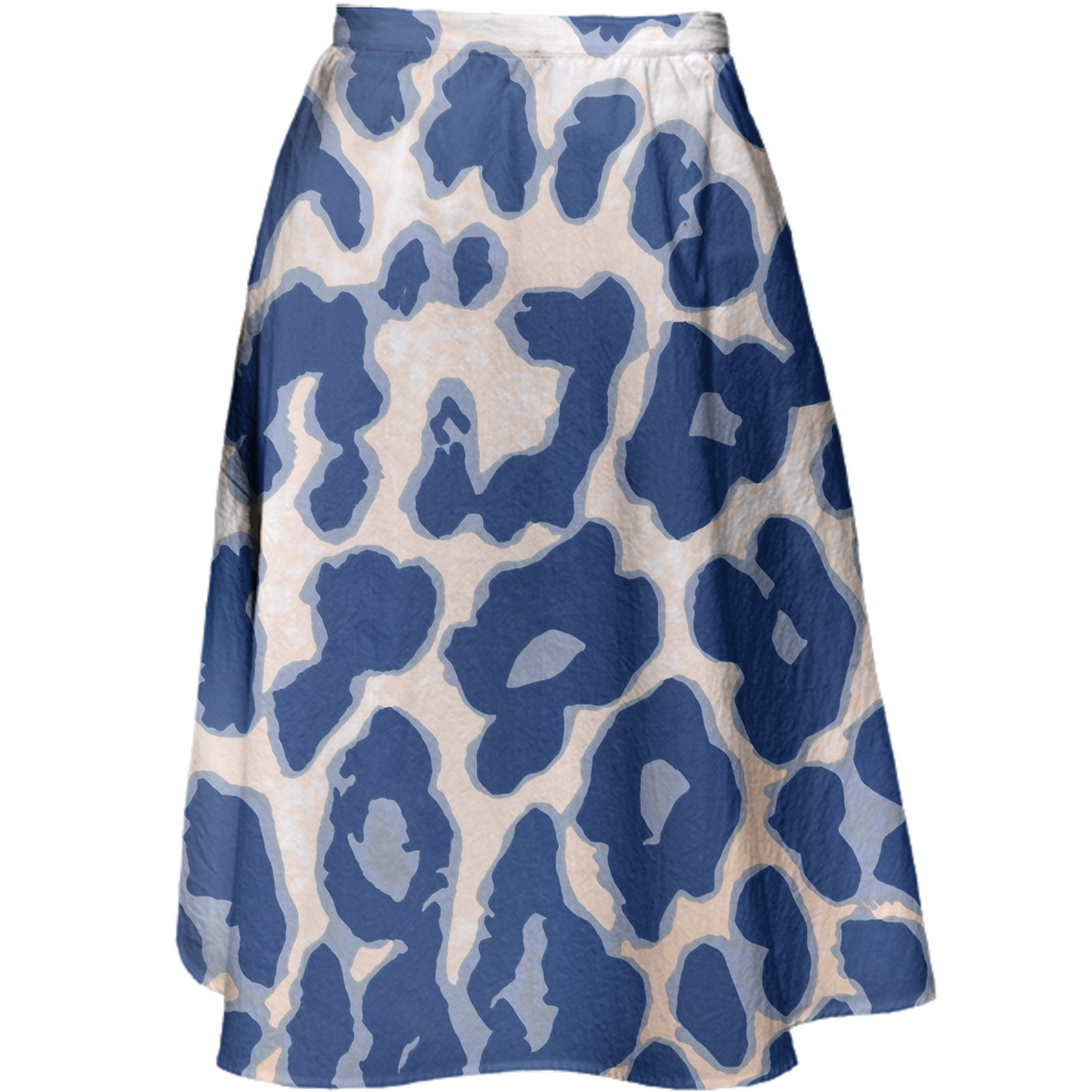 Blue Animal Print Juul Skirt
