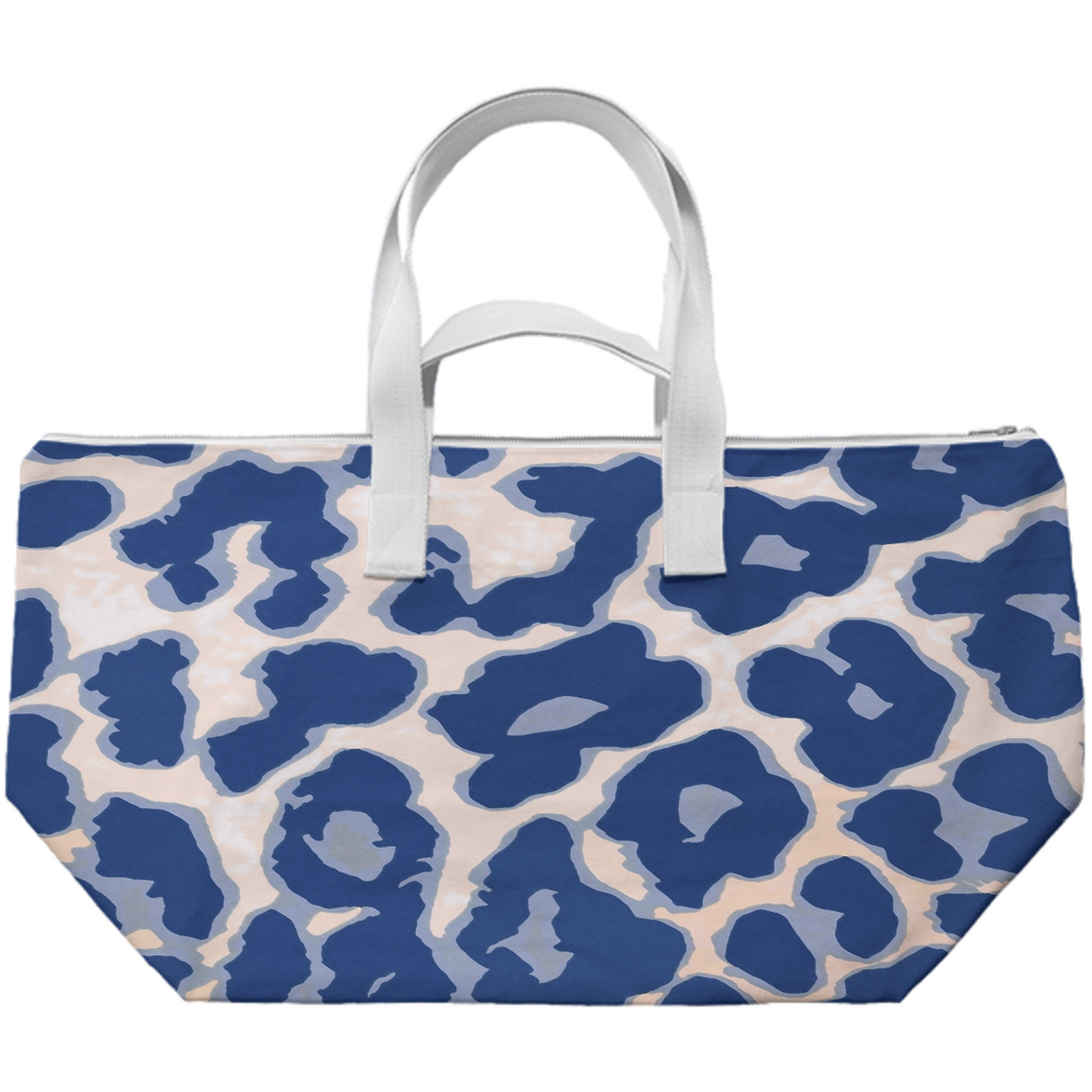 Blue Animal Print Juul Weekender Bag