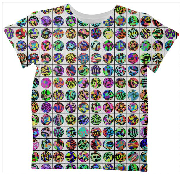 Kids T shirt in Dots and Grid