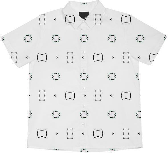 Buttons and Bows in Black on White