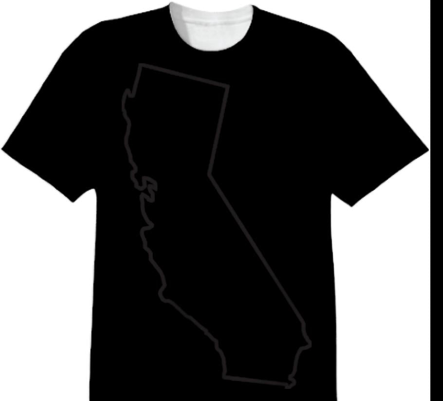 California Outline Tee