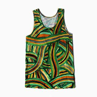 All Over Rainbow Thread Tank Top