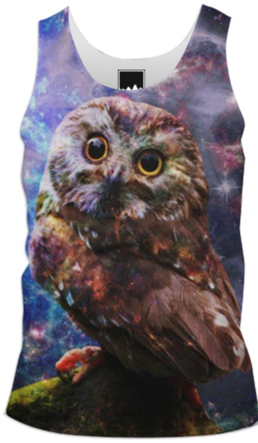 Galaxy Owl Tank Top