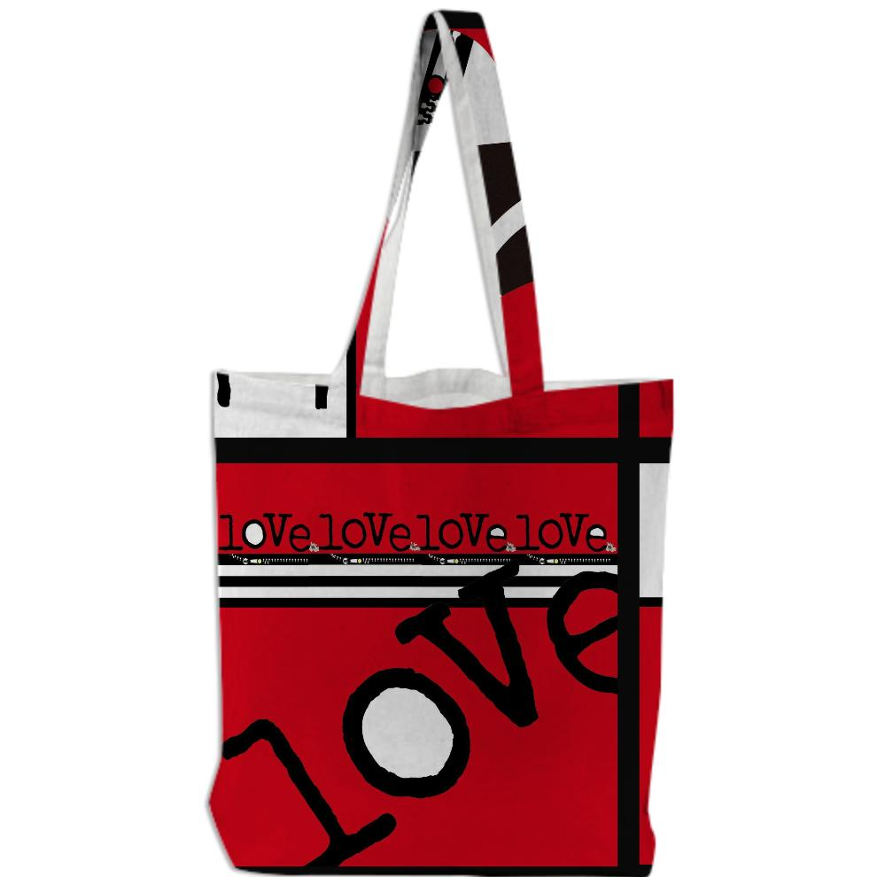 ArtyZen Studios Red Love Wordplay Bag