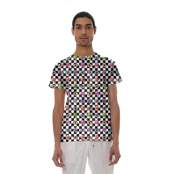Shroom Checkers Cotton T shirt