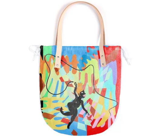 Whip Leather Handle Tote