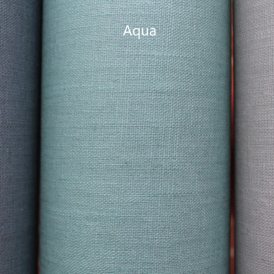 Coated linen tablecloth - Aqua