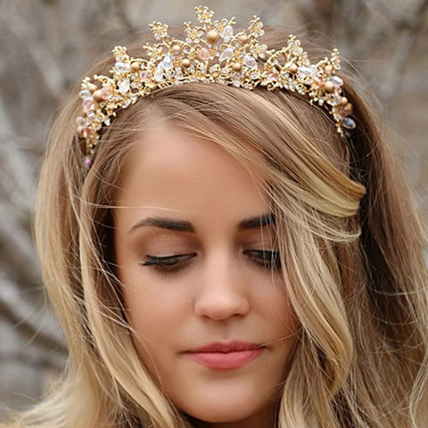 Handmade Gold and Pearl Crown