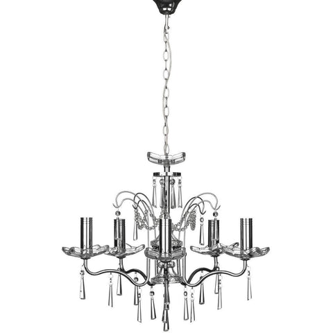 Alexis 5 Arm Chandelier-Lighting-Retail Therapy Interiors