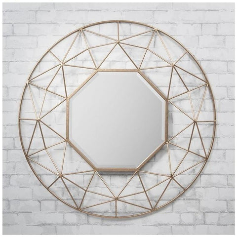 Andromeda 3D Gold Mirror 88cm-Mirrors-Retail Therapy Interiors