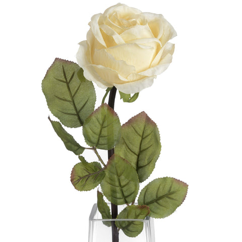 Autumn Cream Single Rose Stem-Accessories-Retail Therapy Interiors
