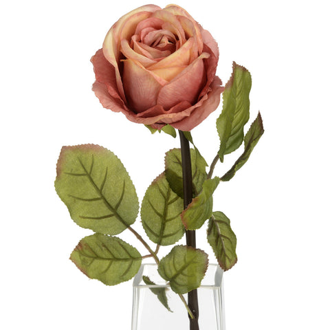Autumn Peach Single Rose Stem-Accessories-Retail Therapy Interiors