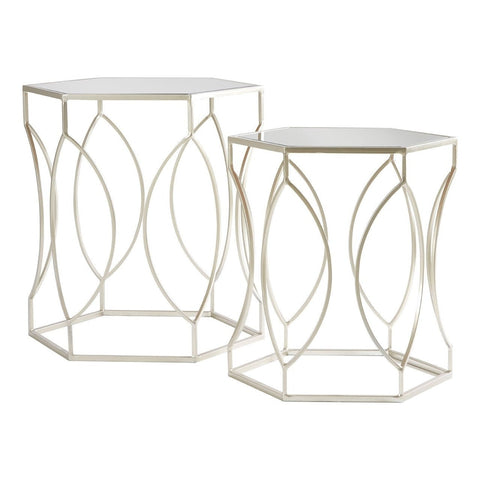 Avantis Hexagonal Tables Silver-Furniture-Retail Therapy Interiors