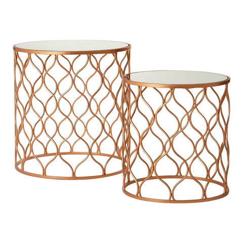 Avantis Round Tables Copper-Furniture-Retail Therapy Interiors
