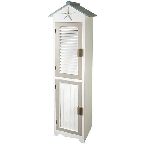 Beach Hut Large Cabinet With Starfish-Furniture-Retail Therapy Interiors