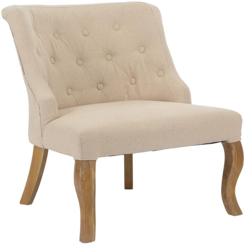 Beige Feature Chair-Furniture-Retail Therapy Interiors