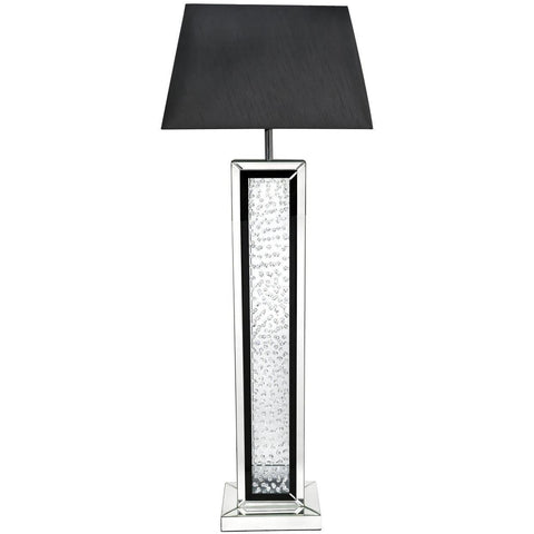 Black Mirror Floor Lamp With Rectangular Black Shade-Lighting-Retail Therapy Interiors