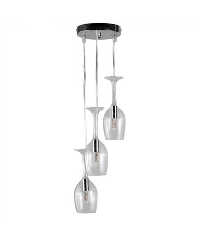 Bordeaux 3 Way Wine Glass Ceiling Lamp-Lighting-Retail Therapy Interiors