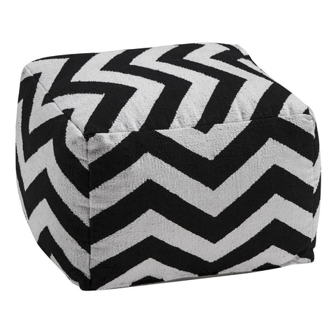 Bosie Chevron Pouffe-Soft Furnishings-Retail Therapy Interiors