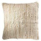 Braided Jute and Cotton Cushion Natural-Soft Furnishings-Retail Therapy Interiors