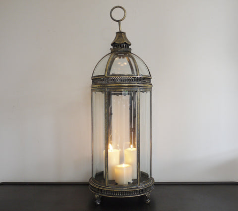 Brass Globe Top Lantern-Accessories-Retail Therapy Interiors