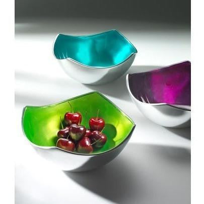 Brushed Coloured Aluminium Four Point Bowl-Kitchenware-Retail Therapy Interiors