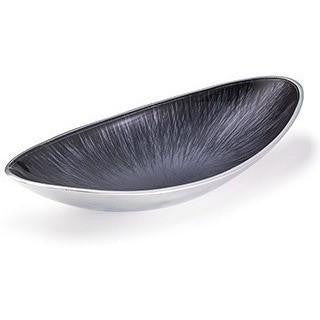 Brushed Grey Aluminium Oval Bowl-Kitchenware-Retail Therapy Interiors