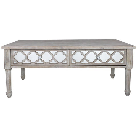 Dusky Beach 2 Drawer Coffee Table-Furniture-Retail Therapy Interiors