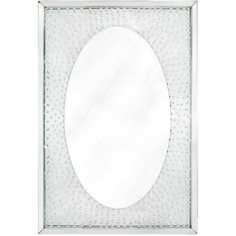 Floating Crystal Oval Wall Mirror-Mirrors-Retail Therapy Interiors